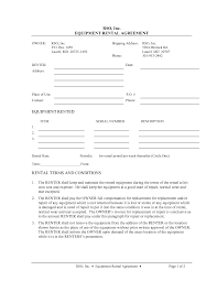Free Residential Lease Agreement Templates Awesome Sample Equipment Lease Agreement Template Photos Resume