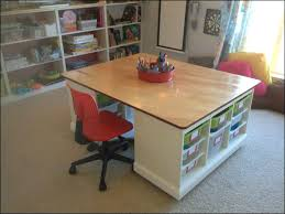 building table with storage kids craft table with storage art tables for how to make a desk