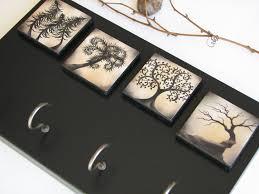 key holder wall key rack wall organizer whimsical tree naturesheavenlyart dma