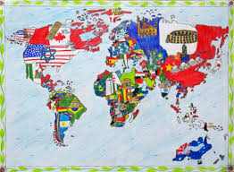 world map in barbara petchenik children s world map drawing competition