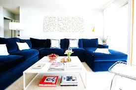 Sectional Sofa Blue Royal Blue Bemine Co