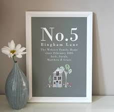 New Home Gift by Personalised Family Home Print Printing Frames Ideas And Duck