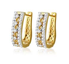 gold ear ring image buy sheetal impex certified new designer real diamonds 18k