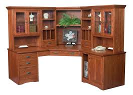 Corner Writing Desk by Amish Furniture Hand Crafted Solid Wood Desks Amish Traditions