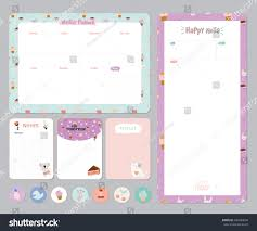 cute daily planner template cute calendar daily weekly planner template stock vector 446684038 cute calendar daily and weekly planner template note paper and stickers set with vector funny