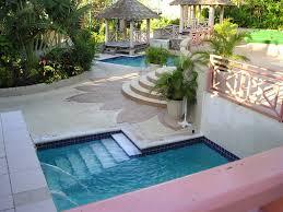 backyard design semi inground pool landscape ideas carolbaldwin