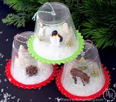 diy snow globe ornaments craft