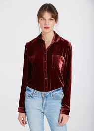 velvet blouse high quality silk velvet blouse sale from lilysilk