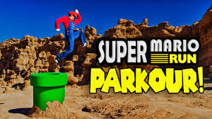 super mario run meets parkour in real life in 4k youtube