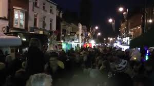 crowd scenes at congleton christmas lights switch on youtube