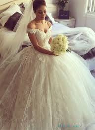 Wedding Dresses Ball Gown H1650 Pretty Off The Shoulder Lace Wedding Dresses Ballgown