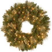 Outdoor Lighted Garland Wreaths U0026 Garland Walmart Com