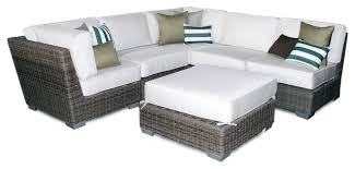 fiji outdoor 6 piece sectional set with sunbrella cushions