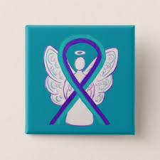 teal ribbons purple and teal awareness ribbon meaning and gifts awareness
