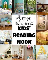 corner reading nook remodelaholic 4 steps to a great kids reading nook