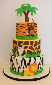 jungle theme cake jungle safari see our safari themed baby gifts at http www
