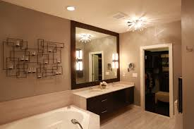 master bathroom with a fashionable wall candle holder in