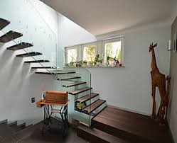 Duplex Stairs Design Photos Hgtv Contemporary Wood Stairs And Glass Railing Loversiq