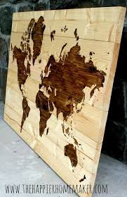 diy wooden world map the happier homemaker