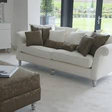 canap classique tissu canapé classique en tissu 2 places blanc chic hb