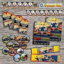 fireman sam birthday party invitation by dottydigitalparty 3rd