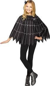 Spider Halloween Costume Spider Poncho Black Purple Solid Pack Size Halloween