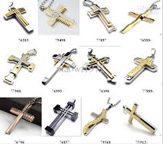 steel cross necklace images Multicolour stainless steel men 39 s cross pendant necklaces chain jpg
