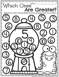 greater than less than worksheet for kindergarten comparing numbers worksheets planning playtime