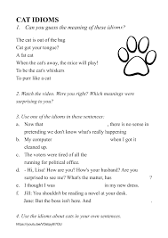 these meaning 168 free idiom worksheets