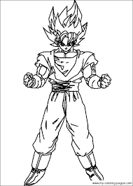 dbz color dragon ball coloring pages 030 projects