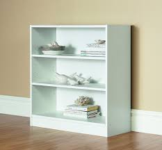 amazon com mylex three shelf bookcase two adjustable shelves