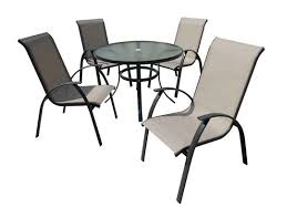 outdoor furniture patio furniture 5 pc dining set textilene