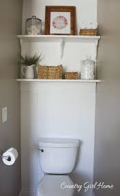 country home bathroom shelves
