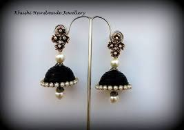 handmade paper earrings handmade paper artificial jewelry fashion paper jhumka earrings
