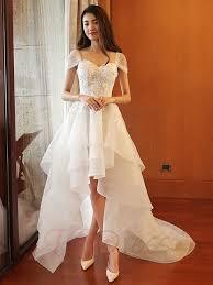 tb dress hi low wedding dresses sweetheart appliques beading high low