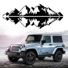 jeep decals pair 76x16cm mountain range sticker vinyl decals sticker for car