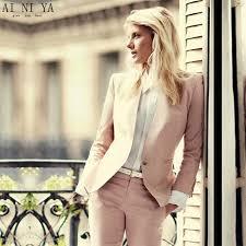light pink blazer womens custom light pink 2018 fashion womens business suits 2 piece blazer