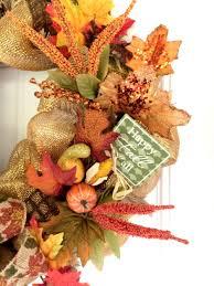 fall ribbon how to make a fall burlap and mesh ribbon wreath