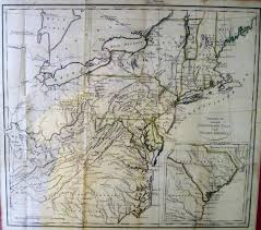 Eastern United States Road Map by 1800 U0027s Pennsylvania Maps