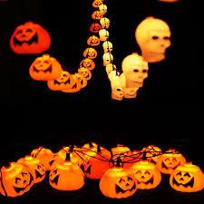 cheap halloween led skull pumpkin string light lamp festival party