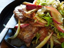 pork chops with apple fennel and sage recipe melissa rubel