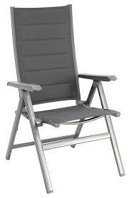 madrid aluminum folding chair padded sling gray set of 2