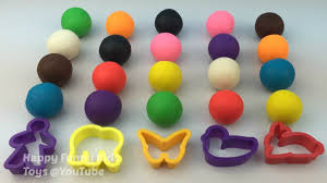play and learn colours with play dough balls molding fun for kids
