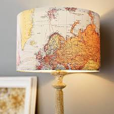 handmade vintage map lampshade vintage maps vintage and decorating