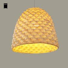 Pineapple Light Fixture Bamboo Wicker Rattan Pineapple Pendant Light Fixture Rustic