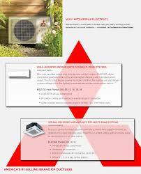 mitsubishi electric cooling and heating mini split dual zone mitsubishi up to 18 seer heat pump system