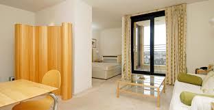 modern small studio apartment interior design with bright color
