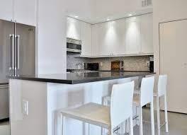 Pictures Of Country Kitchens With White Cabinets by Shiny U0026 Chic White Contemporary Nyc Kitchen Before U0026 After