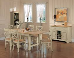 Country Style Dining Room Other White Country Side Chair With Crossback White Country