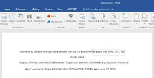 using refworks with microsoft word citing sources libguides at